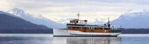 MV Discovery anchored Alaska inside passage