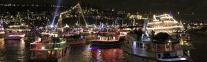 Argosy boat Seattle Christmas ship parade & festival