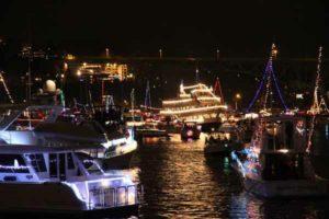 Royal Argosy christmas ship at festival parade of boats